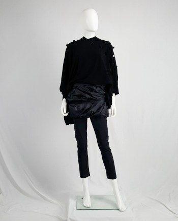 Junya Watanabe black leggings with geometrical skirt — fall 2009