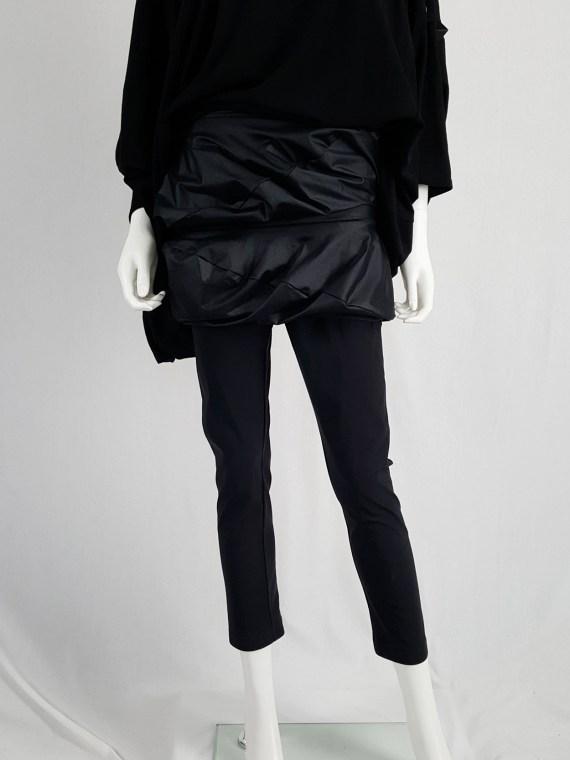 vintage Junya Watanabe black leggings with geometrical skirt fall 2009 140330(0)