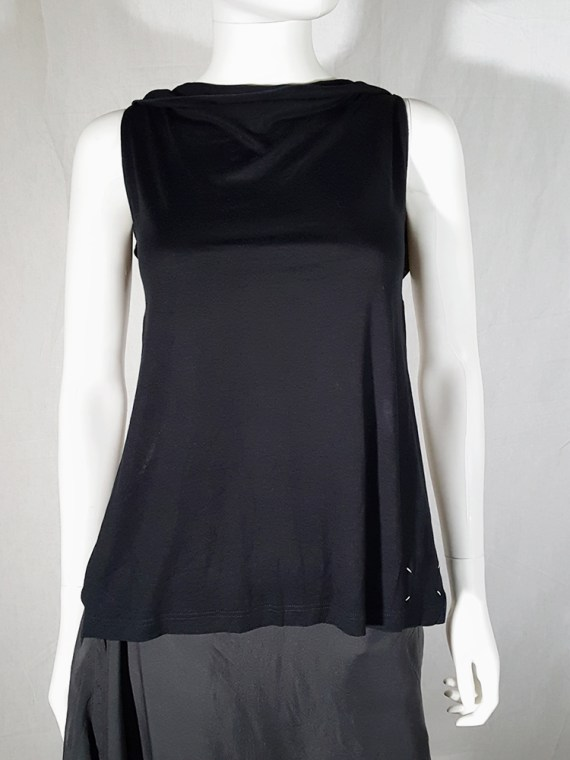 Maison Martin Margiela black backless top — spring 2004