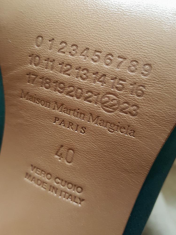 d7f48391c05 Maison Martin Margiela green tabi boots with wooden block heel (40 ...
