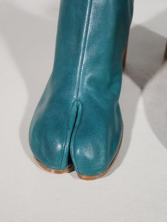 vintage Maison Martin Margiela green tabi boots with wooden block heel 181622