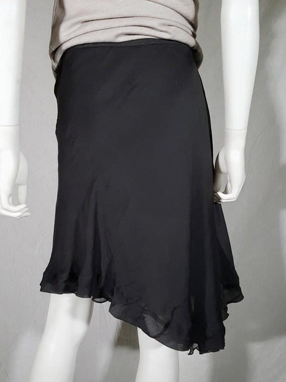 vintage Rick Owens ANTHEM grey asymmetric draped skirt spring 2011 155257
