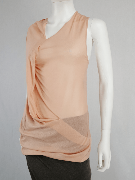 vintage Ann Demeulemeester orange asymmetric draped top 124431