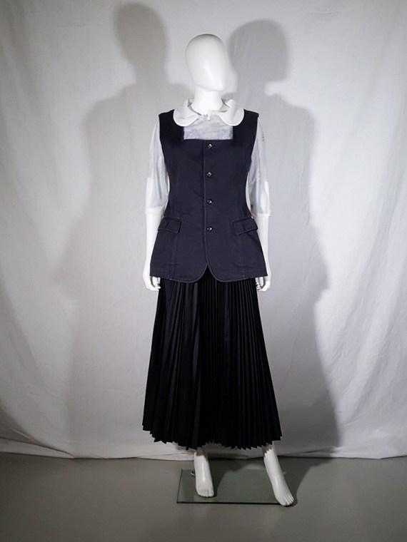 vintage Comme des Garçons black waistcoat spring 1987 171322(0)