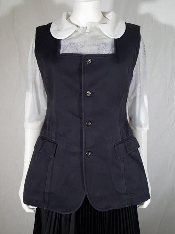 vintage Comme des Garçons black waistcoat spring 1987 171344
