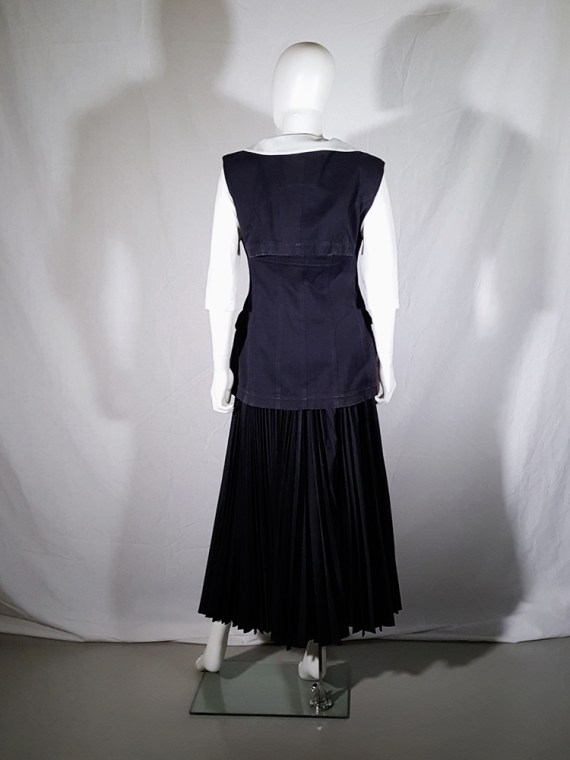vintage Comme des Garçons black waistcoat spring 1987 171600