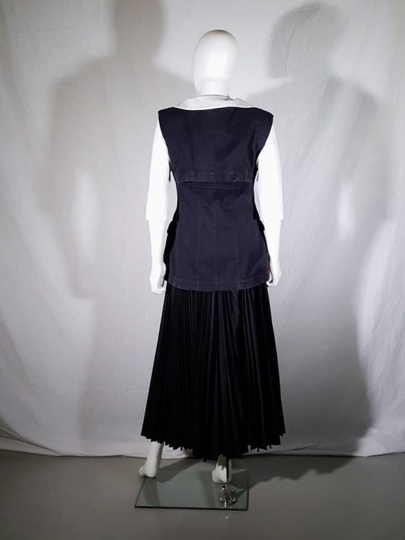 Comme des Garçons black waistcoat — spring 1987