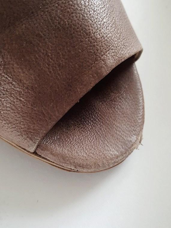 vintage Maison Martin Margiela MM6 brown mules with gold block heel spring 2017 125717