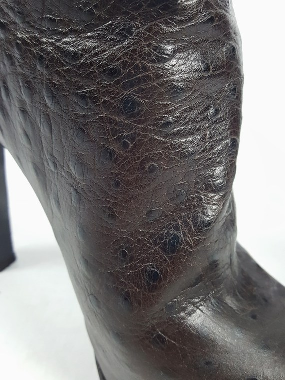 vintage Haider Ackermann brown ankle boots with back zipper fall 2010 102421