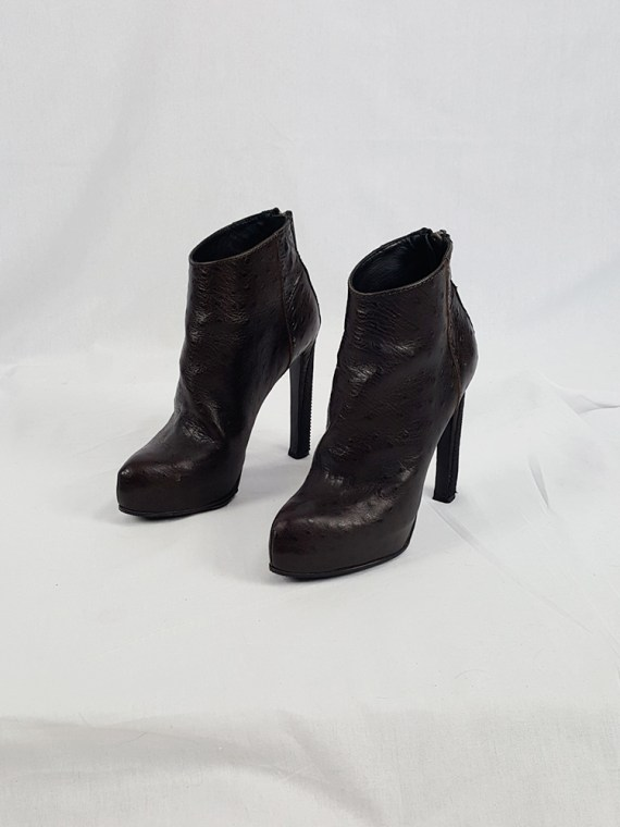 vintage Haider Ackermann brown ankle boots with back zipper fall 2010 103145