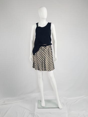 Maison Martin Margiela beige trompe-l'oeil printed skirt — spring 1996