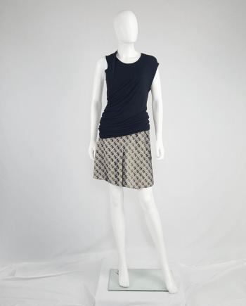 Maison Martin Margiela black dress double folded as top — spring 2003