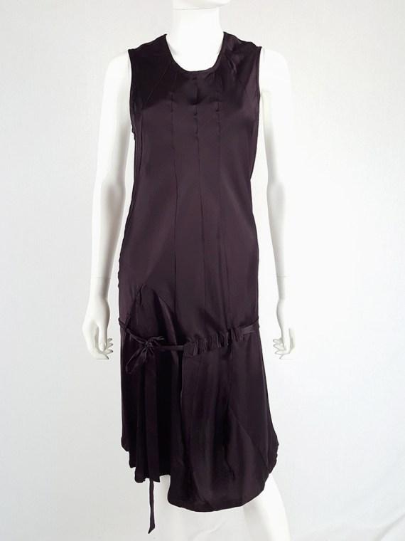 vintage Ann Demeulemeester purple belted dress fall 2003 135054(0)