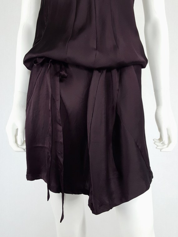 vintage Ann Demeulemeester purple belted dress fall 2003 135359(0)