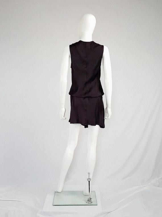 vintage Ann Demeulemeester purple belted dress fall 2003 135457(0)