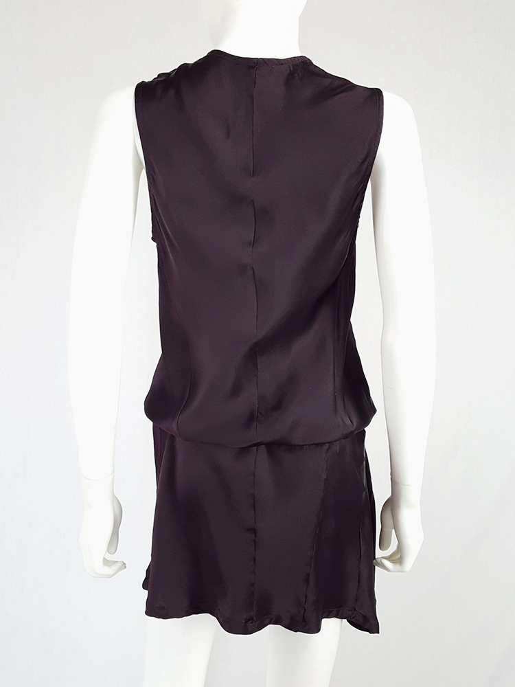 Ann Demeulemeester purple belted dress — fall 2003