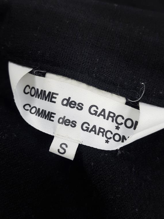 Comme des Garçons Comme black twisted top — AD 2006