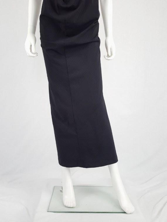 vintage Comme des Garcons robe de chambre black deformed maxi dress AD 1999 104255