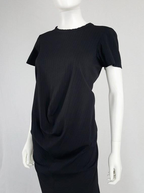 Comme des Garçons robe de chambre black deformed maxi dress — AD 1999