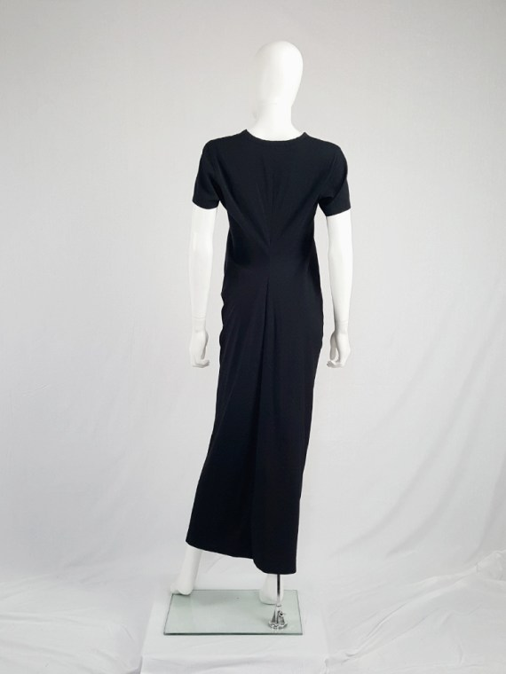 vintage Comme des Garcons robe de chambre black deformed maxi dress AD 1999 104658