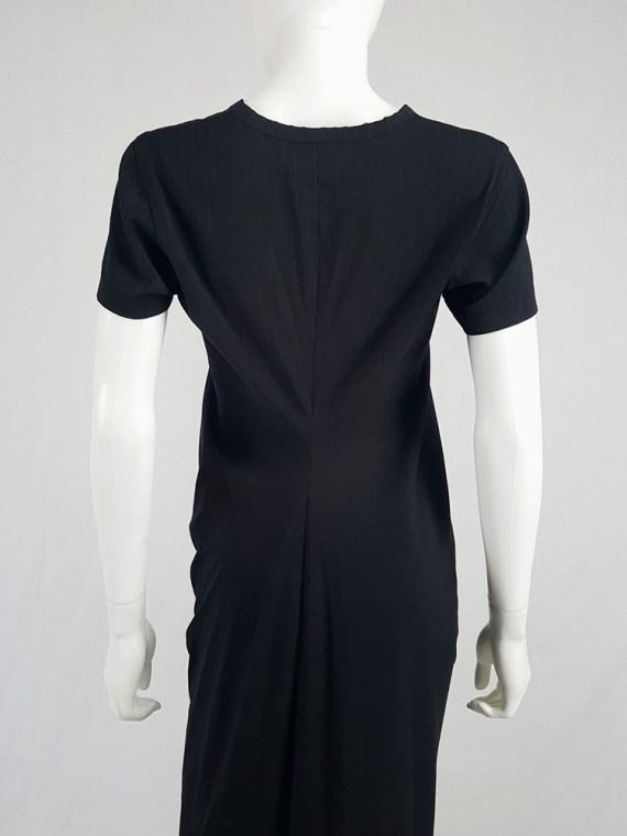 vintage Comme des Garcons robe de chambre black deformed maxi dress AD 1999 104724