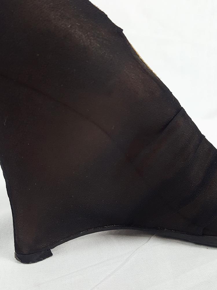 Maison Martin Margiela black silk covered wedges — fall 2007