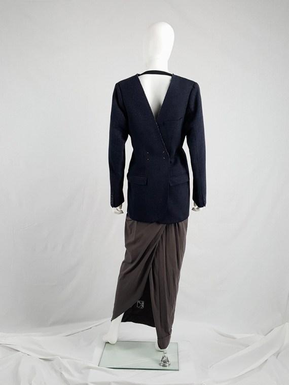 vintage Maison Martin Margiela grey felt backwards blazer fall 1994 200415(0)