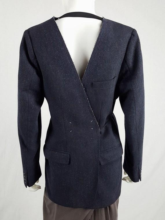 vintage Maison Martin Margiela grey felt backwards blazer fall 1994 200503(0)