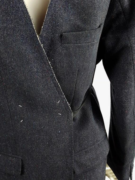 vintage Maison Martin Margiela grey felt backwards blazer fall 1994 200600