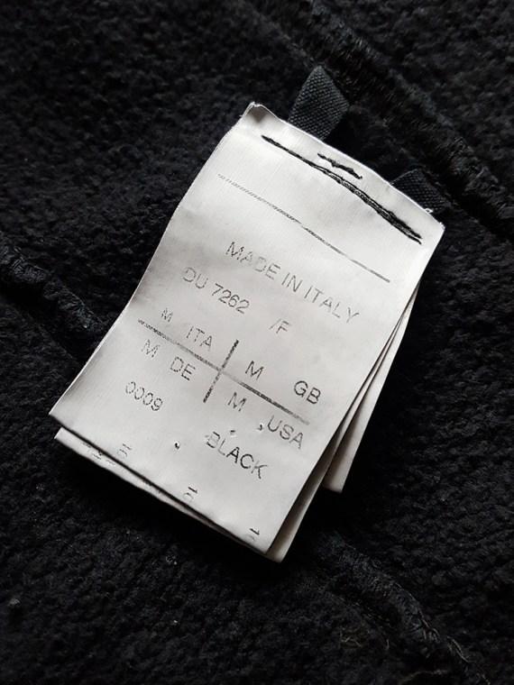 vintage Rick Owens DRKSHDW black zipper sweatshirt 112635