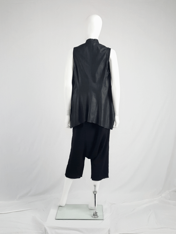 vintage Rick Owens GLEAM black harem trousers with extreme drop crotch fall 2010 114609