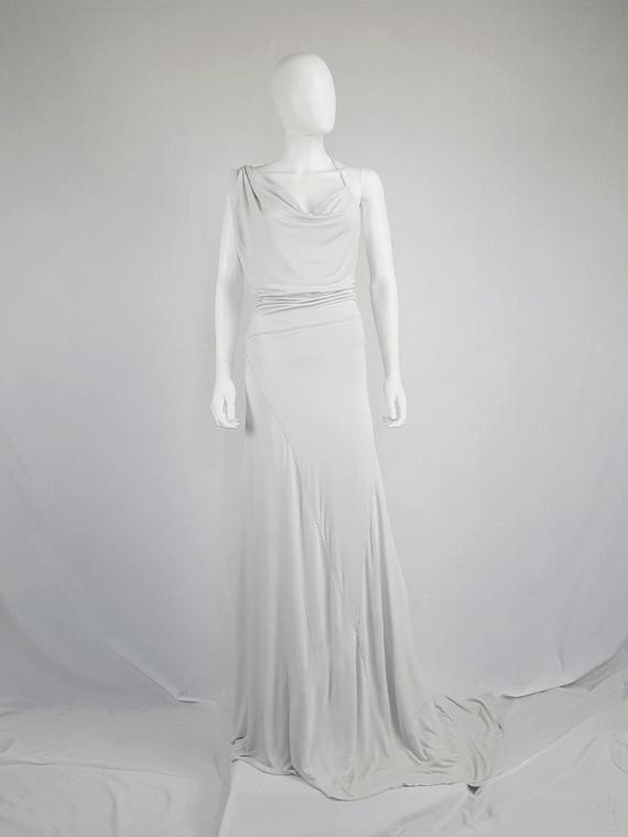 A.F. Vandevorst white maxi dress with asymmetric open back — spring 2011