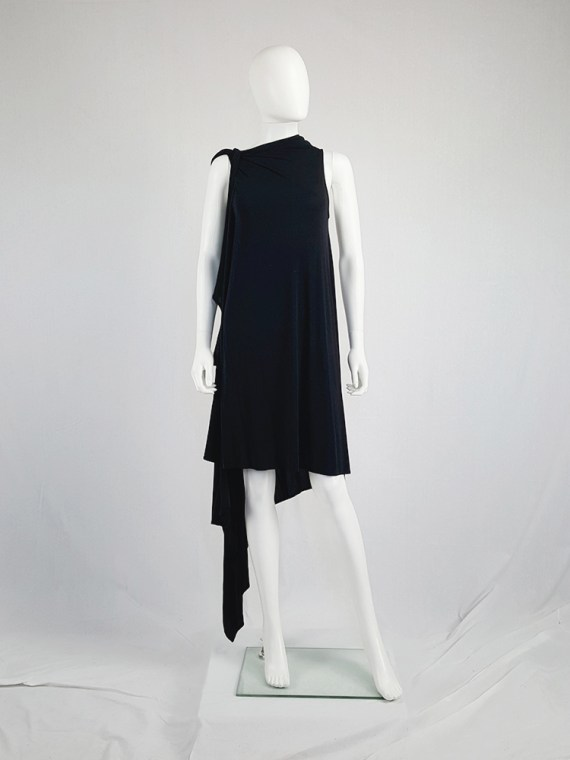 vintage Ann Demeulemeester black triple wrapped dress with 5 armholes spring 1998 091130