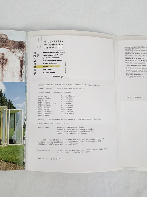 Maison Martin Margiela 13 STREET book special edition volumes 1 & 2 — 1999