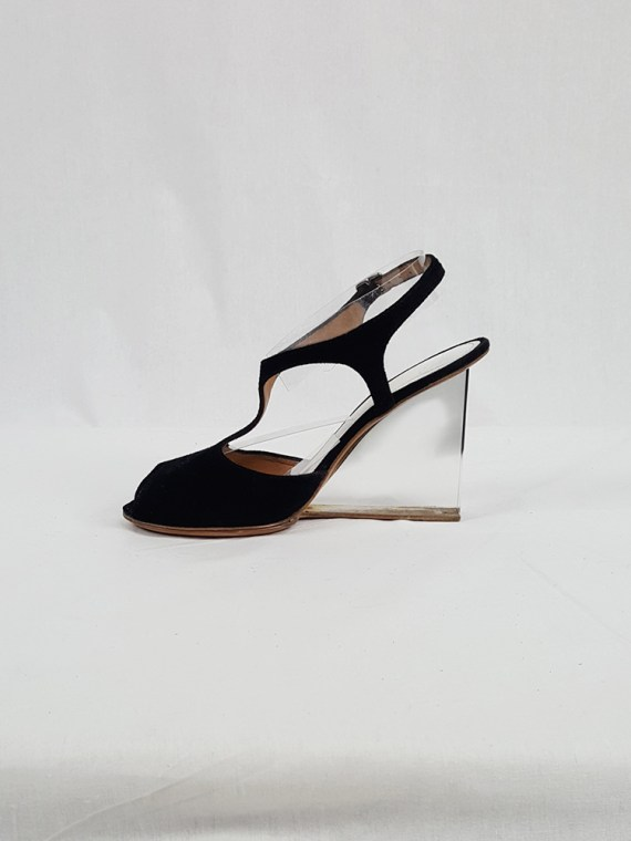 vintage Maison Martin Margiela black sandals with clear heels spring 2007 194243