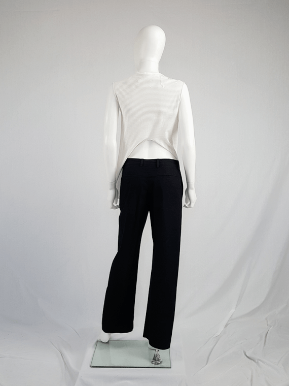 vintage Maison Martin Margiela white top hanging on the front of the body spring 2003 114551