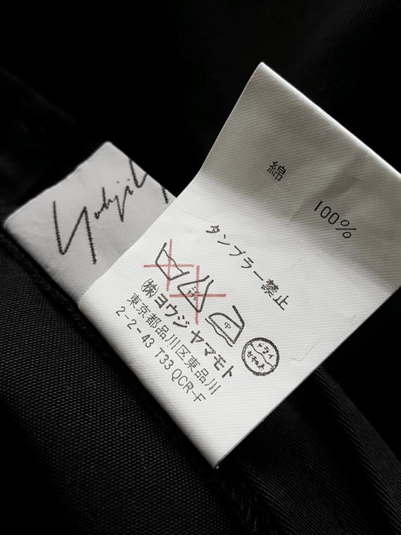 vintage Yohji Yamamoto black structured skirt with sideways curve 080615