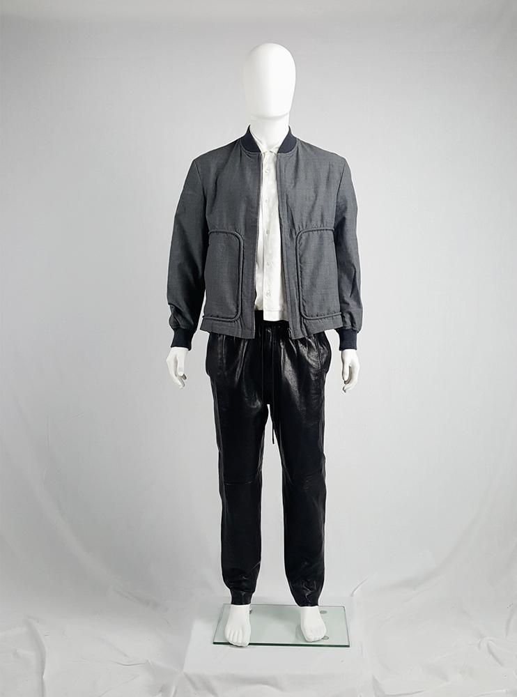 vintage Comme des Garcons Homme grey bomber jacket AD 1997 202432