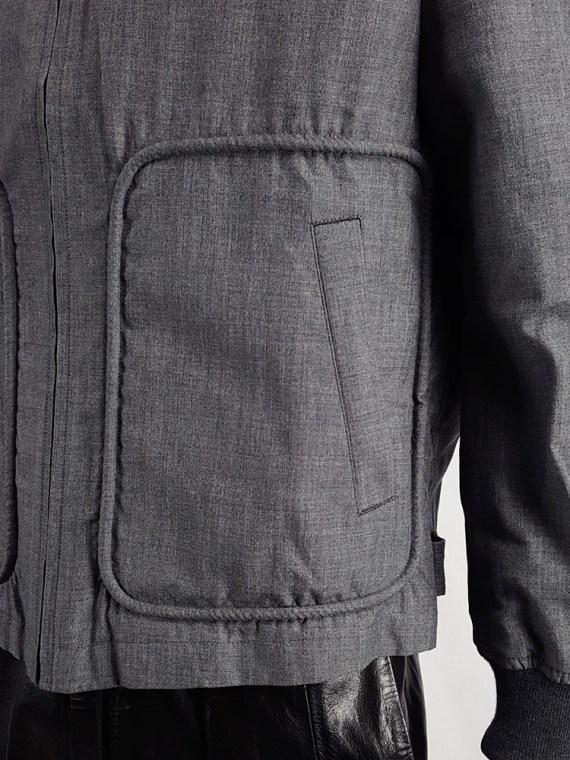 vintage Comme des Garcons Homme grey bomber jacket AD 1997 202645