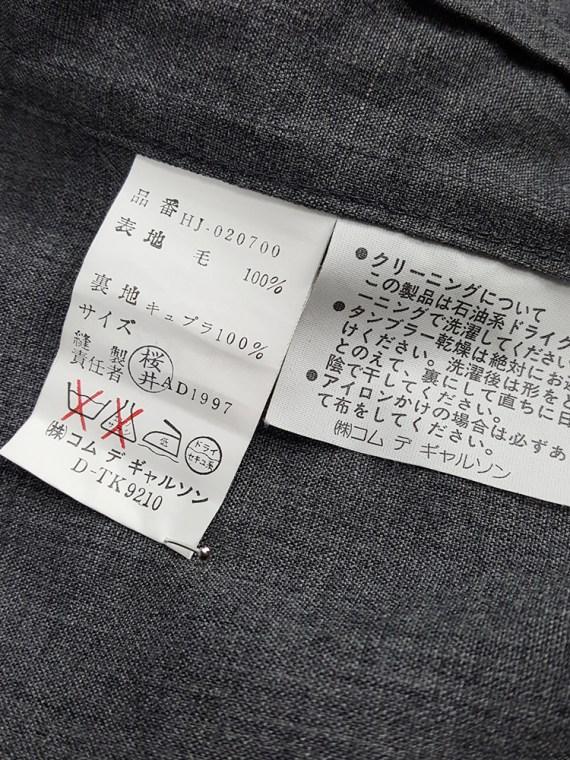vintage Comme des Garcons Homme grey bomber jacket AD 1997 203355