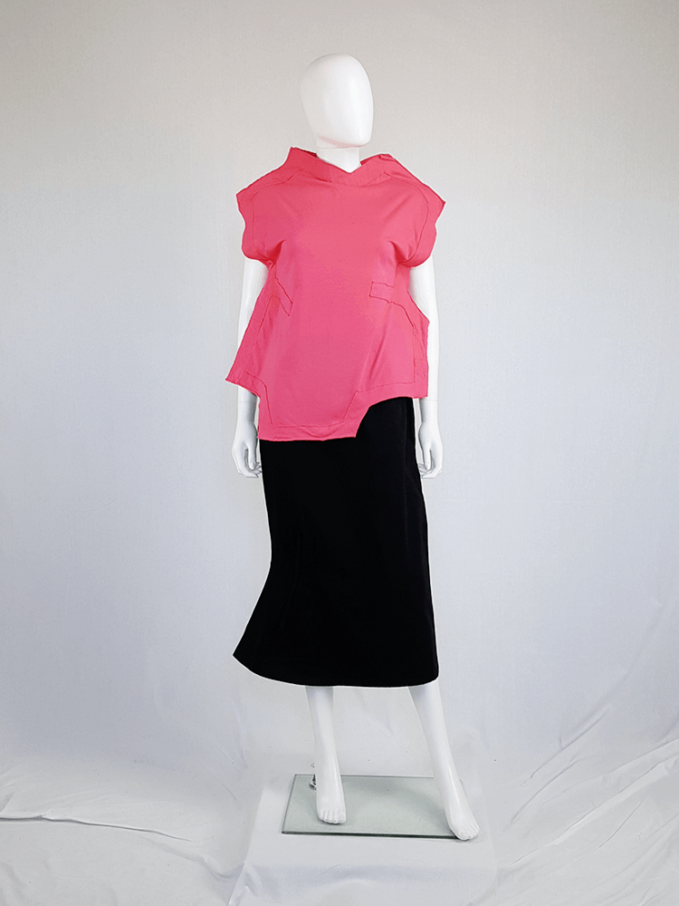 vintage Comme des Garcons pink two dimensional paperdoll top fall 2012 093708