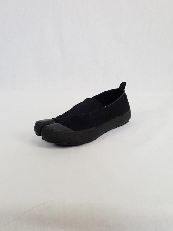 vintage Maison Martin Margiela MM6 black tabi sneaker slip ons early 2000s 115204(0)