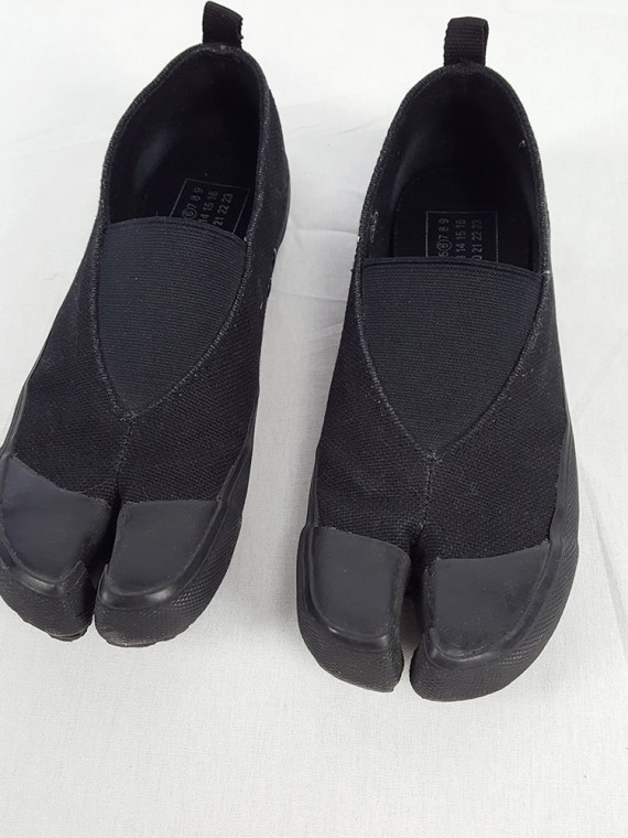 vintage Maison Martin Margiela MM6 black tabi sneaker slip ons early 2000s 115326(0)