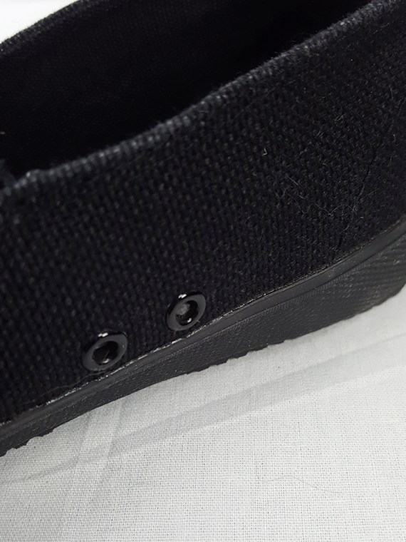 vintage Maison Martin Margiela MM6 black tabi sneaker slip ons early 2000s 115343