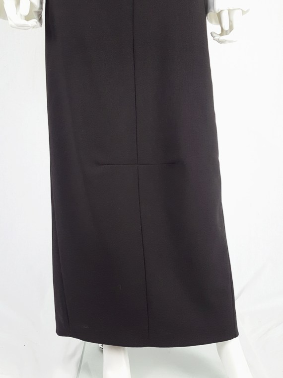 vintage Maison Martin Margiela black maxi skirt with back slit fall 1998 1118