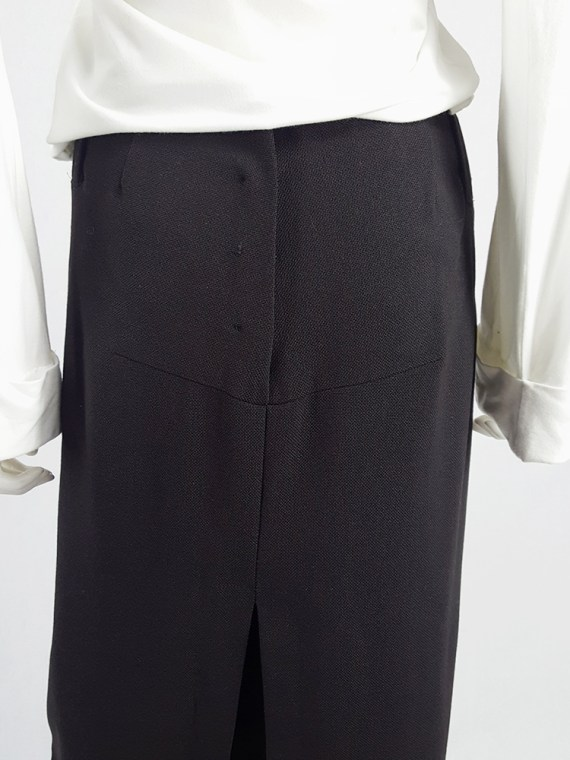 vintage Maison Martin Margiela black maxi skirt with back slit fall 1998 143