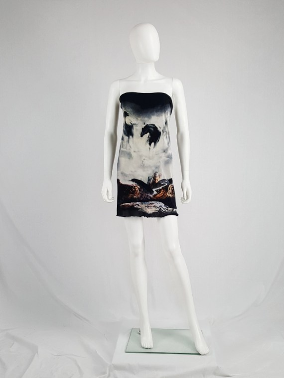 Maison Martin Margiela horse printed strapless dress — spring 2008