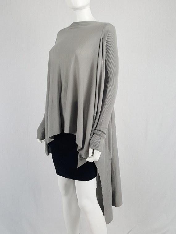 vintage Rick Owens MOODY grey long jumper with back drape fall 2014 113620
