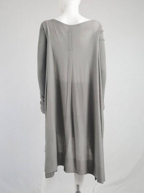 vintage Rick Owens MOODY grey long jumper with back drape fall 2014 113745