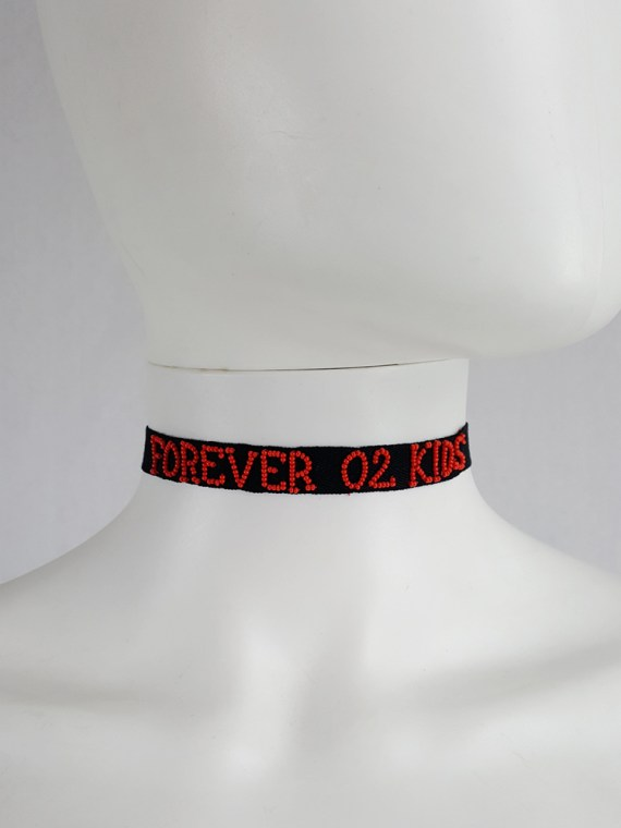 vintage Ann Demeulemeester black beaded choker or bracelet spring 2018 104551